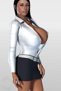 Fat woman huge tits 3d