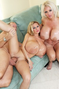 With mega boobs Girls